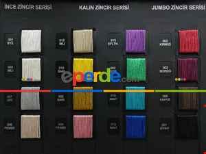 %25 İndirim.. Gri Renk İnce Zincir Serisi İp Perde (beyaz, Krem, Gri, Kırmızı, Bordo, Siyah, Mavi, Pembe, Sarı)