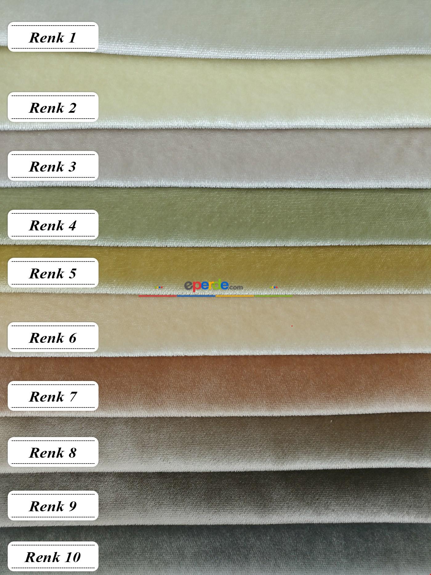 Düz Royal Kadife Fon Perde 10 Renk
