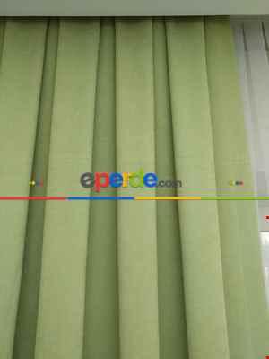 Yeşil Düz Fon Perde 180cm En- Açık Yeşil