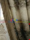 Renk Geçişli Jakar Desenli Salon Fon Perdesi -(saçak Dahildir)