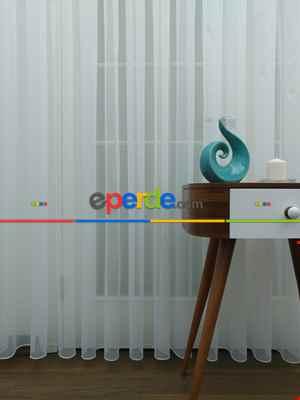 Perdeks Home Tül Perde 11 Lux Series- Ekru