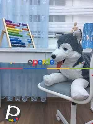 Çocuk Odası Fon Perde - Tül Fon Perde Açık Mavi- Mavi Açık