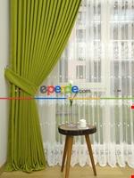 Mint Yeşili - Düz Fon Perde ( En 180cm Dökümlü Fon Perde)- Mint Yeşil