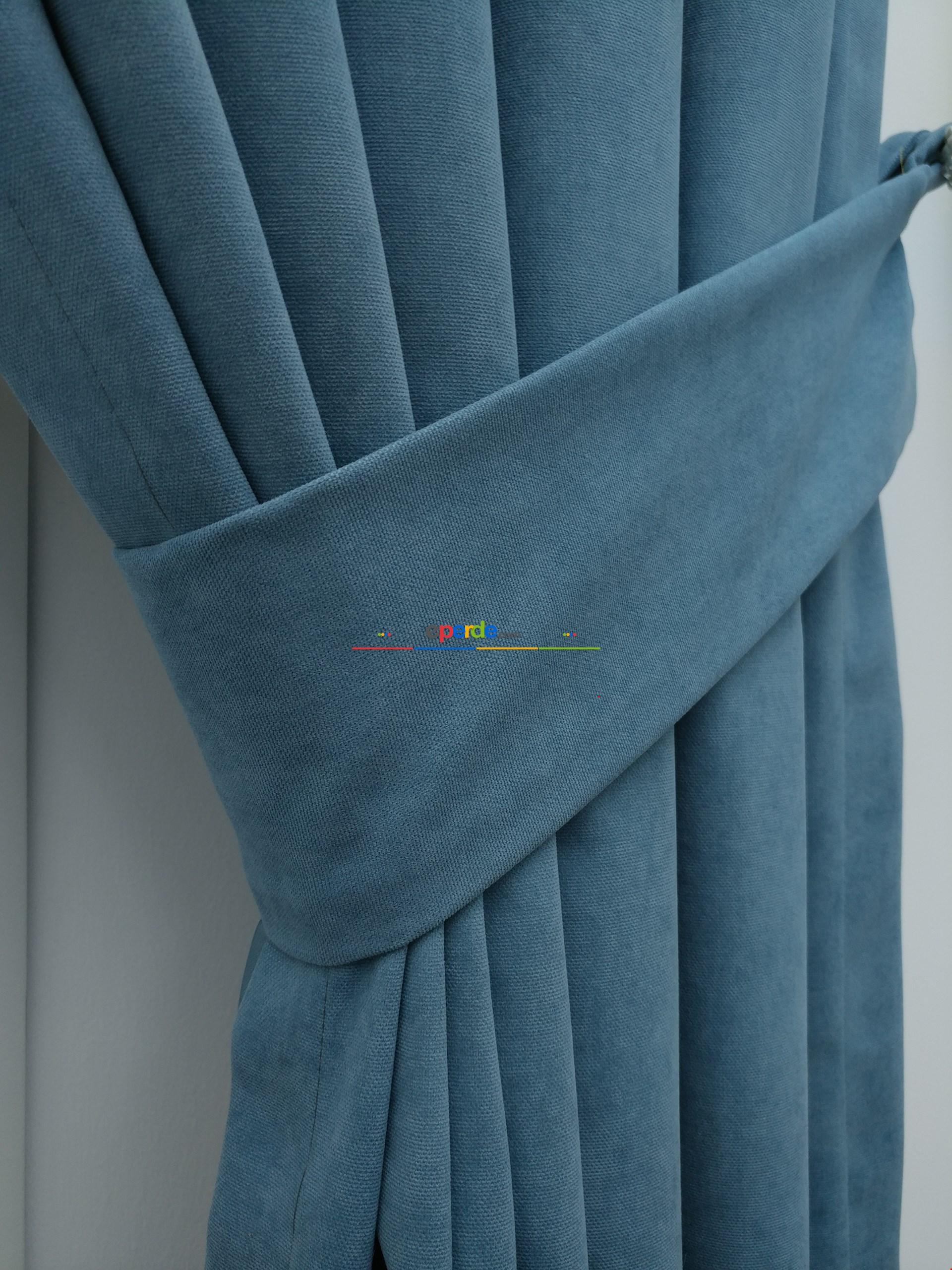 Mavi - Düz Fon Perde (180)