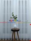 Dönergücü Pırıltı Zemin Tül Perde Beyaz Renk 1.kalite