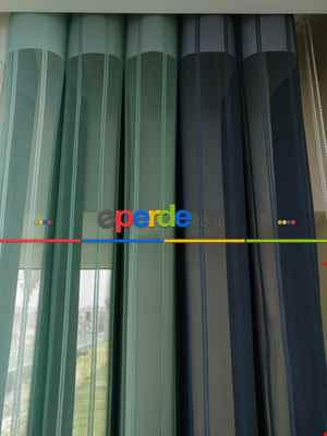 1. Kalite Çizgili Tül Dikey Zebra Perde Ft-33 Parlament - Ft27 Çağla Yeşili - Ft25 Mint Yeşili -- Yeşil-açık Yeşil-ekru-petrol Mavisi