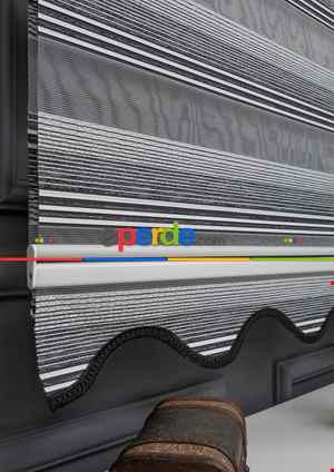 Zebra Perde - Geçişli Mikro Pileli Zebra Perde