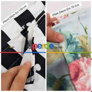 Çiçek Desenli Fon Perde - Kumaşı Kalındır Duck Bezi Değildir- Siyah-Kırmızı-Sarı-Çok Renkli