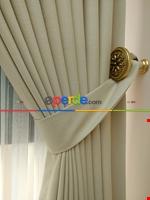 Açık Krem Rengi - Düz Keten Fon Perde ( En 180cm Keten Fon Perde)- Taş Rengi Gri Füme Antrasit