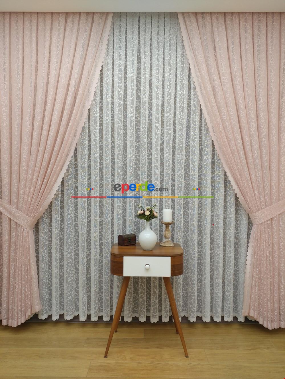 Zerafet Serisi Dantel Örme Tül Fon Perde Karlı Zemin 2019 Home Collectıon