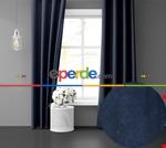 Sis Mavisi Ada Fon Perde 51 Renk Seçeneği Perle Home Daily Series Mavi