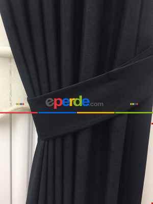 Düz Fon Perde - Siyah