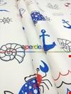 Denizci - Marine - Gemici - Çapalı Erkek Bebek & Çocuk Odası Fon Perde