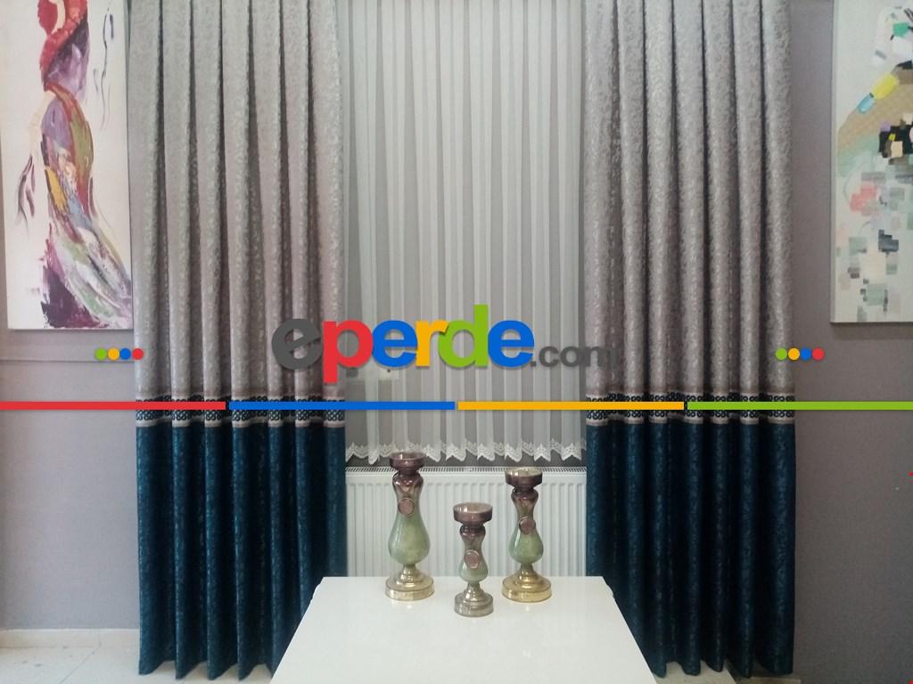 Brillant Pano Fon Perde Orjinal Brillant Gallery Liva Boner Serisi 1. Kalite- Petrol Mavisi