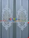 Damask Desen Nakış İşlemeli Tül Perde