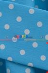 Açık Mavi Fon Perde Puanlı ( Leke Tutmaz )
