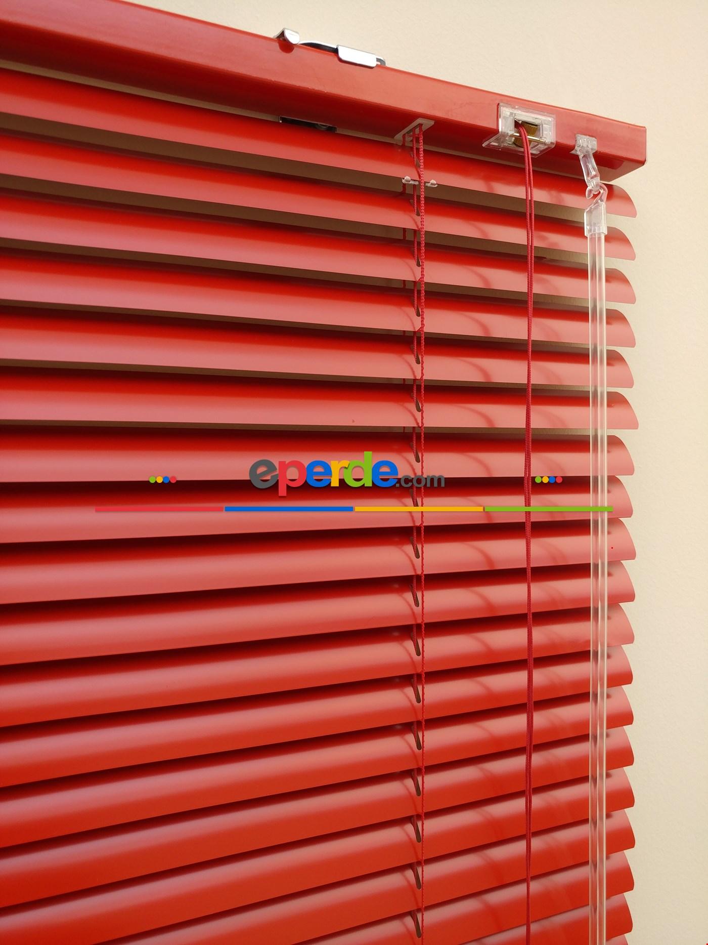 Lila Renk - Alüminyum Jaluzi Perde - 25mm Kalınlığında Kırmızı