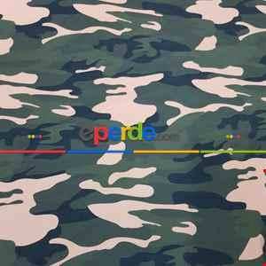 Kamuflaj Desenli Fon Perde Evm1134 Kumaşı Kalındır Duck Bezi Değildir- Yeşil-Bej