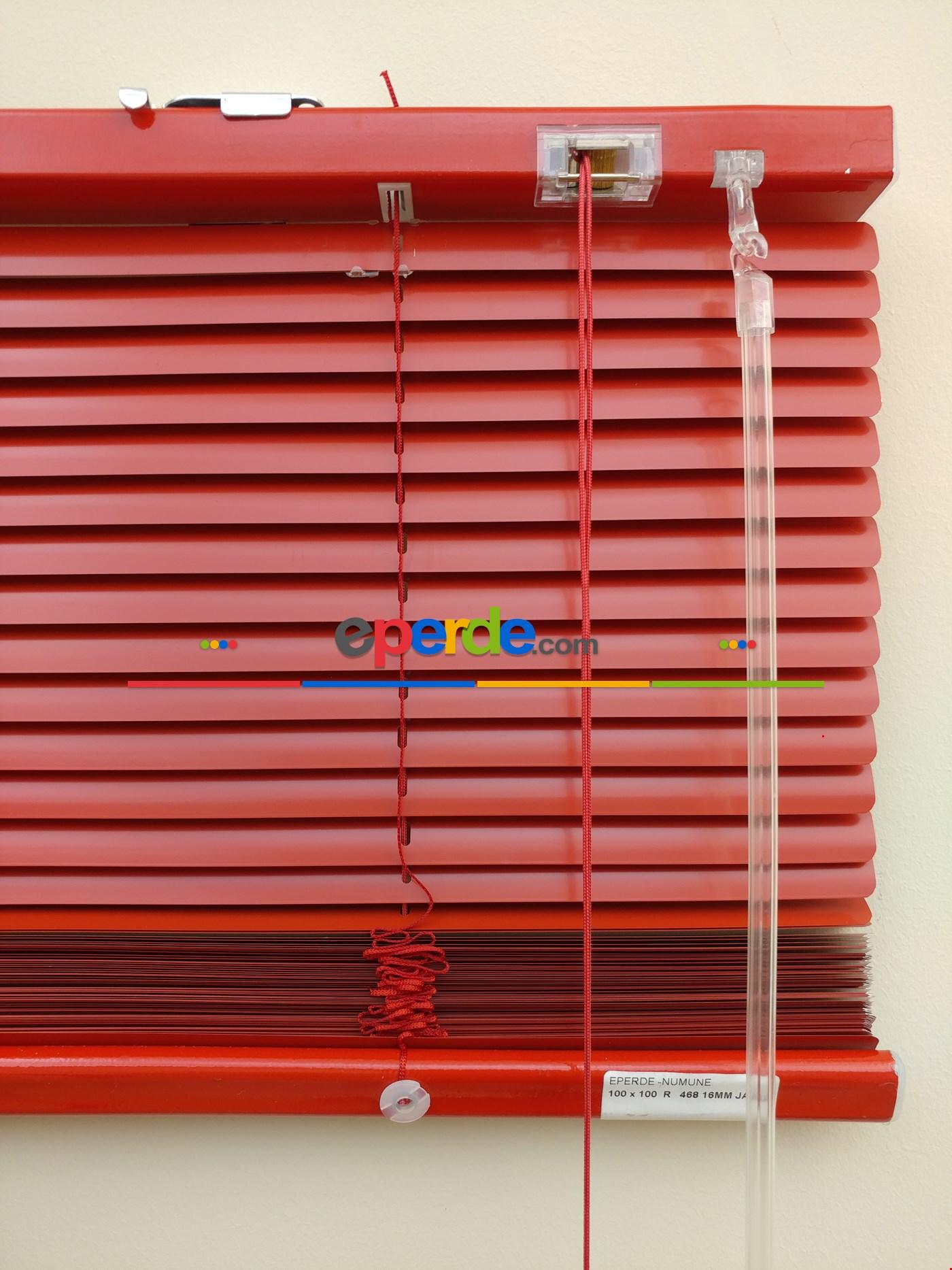 Kırmızı - Alüminyum Jaluzi Perde - 16mm Kalınlığında