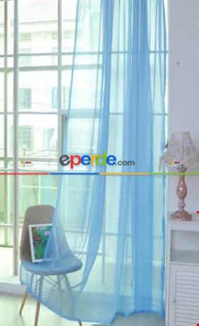 Çocuk Odası Erkek Çocuk Odası Tül Perde- Mavi Açık