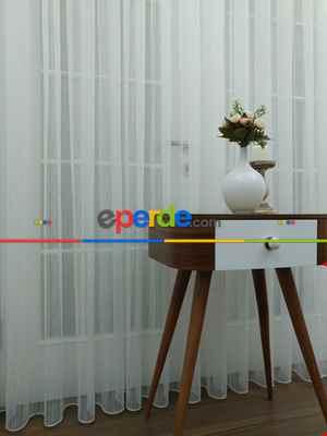 Perdeks Home Tül Perde 02 Lux Series- Ekru