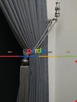 Gri Düz Renk Dökümlü Fon Perde (150)- Gri Gri Füme Antrasit