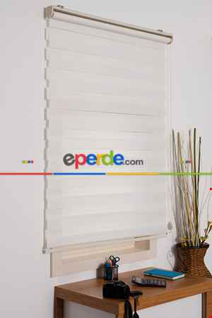 #üreticifirma %40 İndirimli!!! Kalın Bambu Lüx Ekru Zebra Perde Ozel Fiyat- Ekru