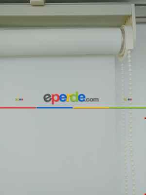 Ekru Düz Stor Perde - 100% Orjinal Ürün- Ekru
