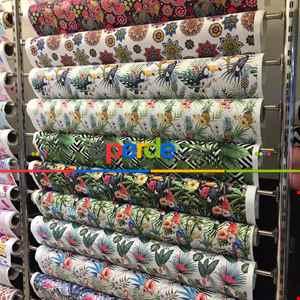 Pop-art Desenli Fon Perde Evm449 -p - Kumaşı Kalındır Duck Bezi Değildir.- Beyaz-Kahve-Çok Renkli