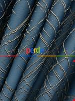 Jakar Desenli Fon Perde- Hardal Sarısı-petrol Mavisi Mavi - Hardal