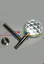 Fon Demiri Renso Pipo Camlı Gümüş-7 Cm( 2adet) Gümüş