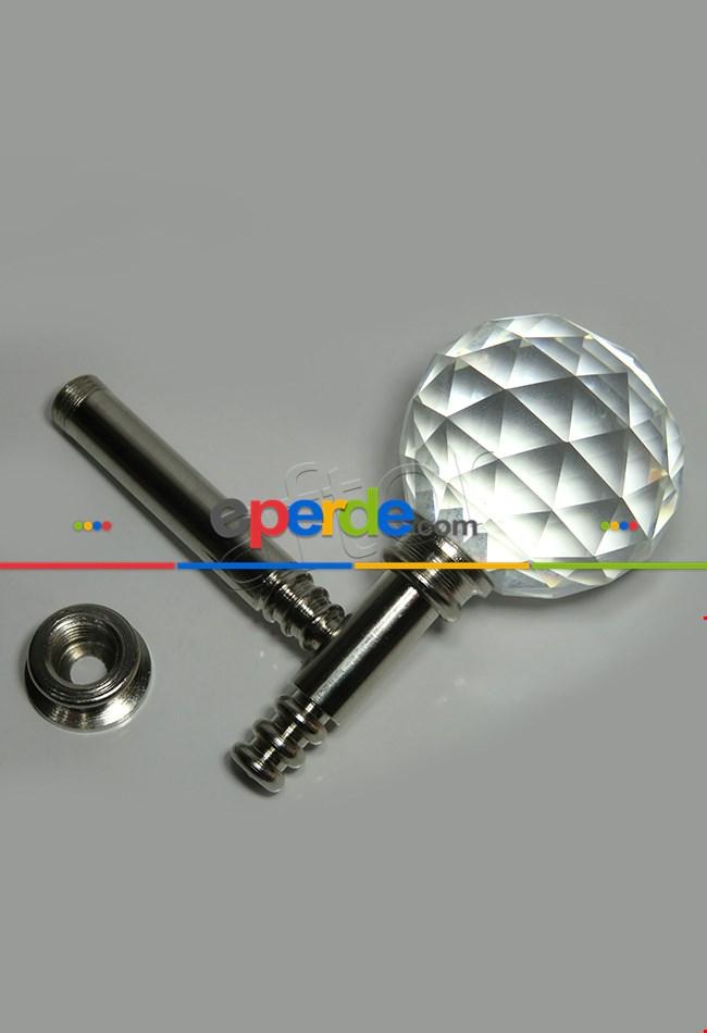 Fon Demiri Renso Pipo Camlı Gümüş-7 Cm( 2adet)