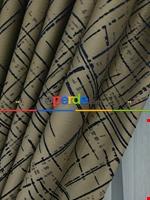 Jakar Desenli Fon Perde- Hardal Sarısı-petrol Mavisi Lacivert - Kahverengi