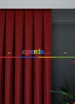 Düz Koyu Gri Ada Fon Perde Dökümlü 1.kalite ( Açıklamaya Dikkat) Kırmızı