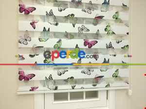 Zebra Perde - Baskılı Çocuk Ve Genç Odası Zebra Perde- Yeşil-mavi-pembe-mor