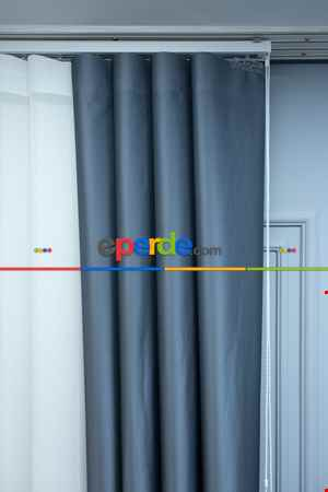 Lens Akıllı Dikey Tül Perde Koza-34- Çok Renkli 2