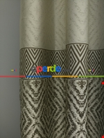 Modern Pano Fon Perde Bantlı Çift Renk - 501- Kiremit Rengi-kum Beji Kahverengi