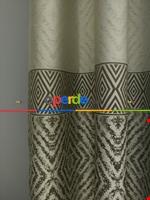 Modern Pano Fon Perde Bantlı Çift Renk - 501- Bej-Füme-Gri Açık Kahverengi