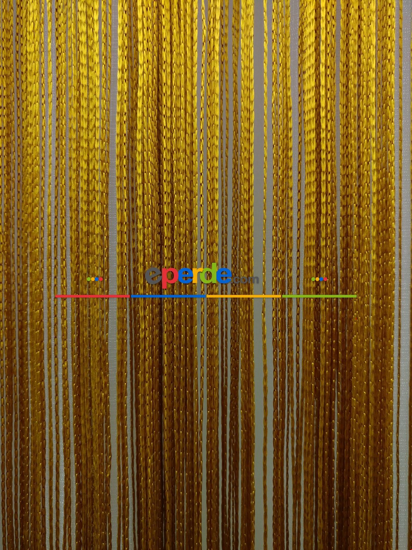 Hardal Sarısı İp Perde