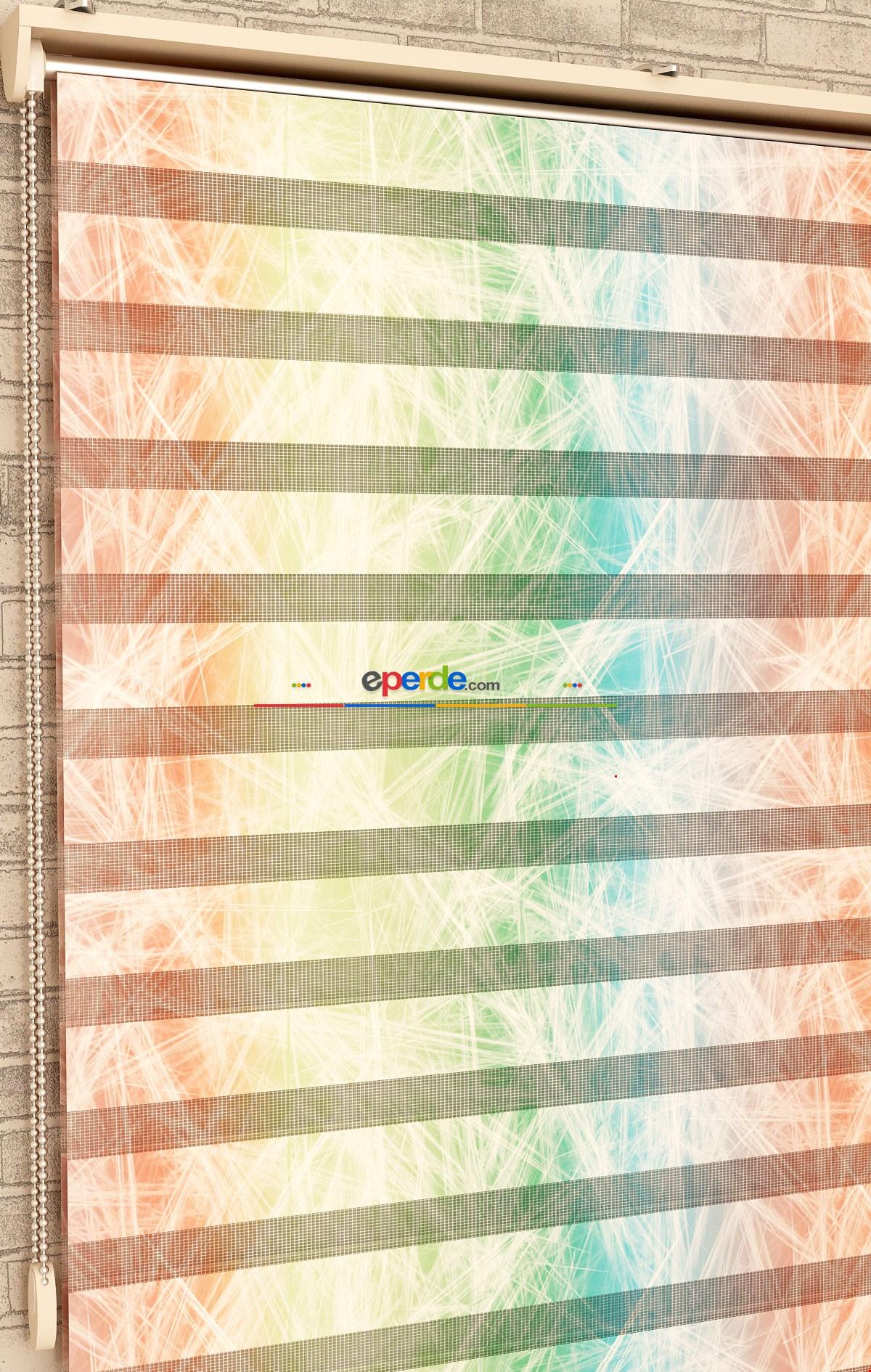 Renk Geçişleri - Baskılı Zebra Perde