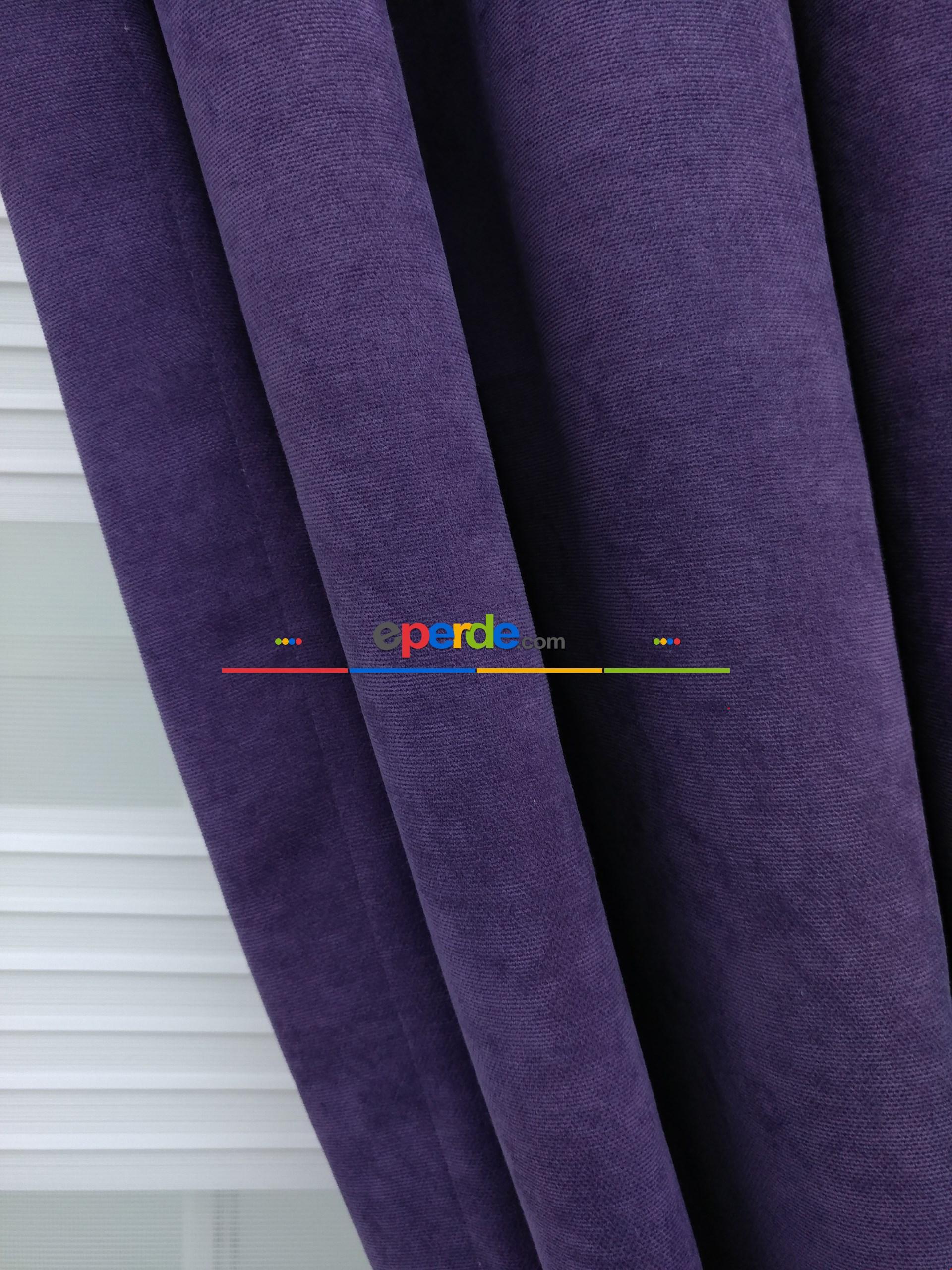Fon Perde - Mor Düz Fon Perde 130cm X 270cm