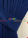 Parlement Mavi Düz Sade Fon Perde Dökümlü ( En 150cm Dökümlü Fon)
