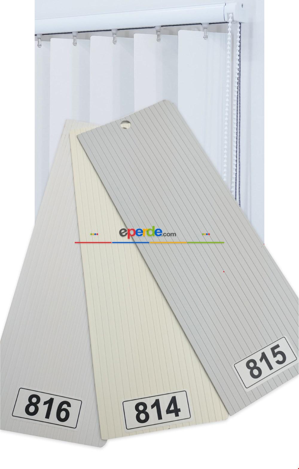 1. Kalite 3 Renk Çizgili Pvc Dikey Perde - Ofis Fabrika İşyeri Perdesi