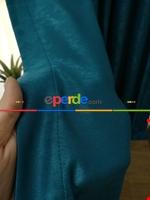 Soft Fon Perde- Fıstık Yeşili Mavi