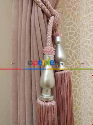 Pudra Düz Fon Perde ( En 150cm Dökümlü Fon )- Pembe Pudra Pembe-pudra