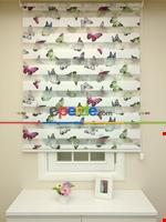 Zebra Perde - Çiçek Baskılı Çocuk Ve Genç Odası Yeşil - Mavi - Pembe - Mor