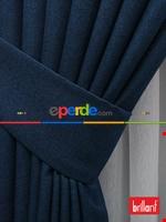 Brillant Keten Açık Vizon Renk Düz Fon Perde 180cm- Açık Vizon Mavi