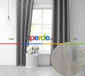 Açık Gri Ada Fon Perde 51 Renk Seçeneği 150x260 Perle Home Daily Series 150cm X 260cm