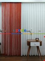 Kırmızı ( Altın Simli ) - İp Perde Simli Seri- Kırmızı-Altın Simli Kırmızı - Altın