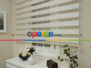 Zebra Perde -bambu Düz Zebra Perde- Ekru